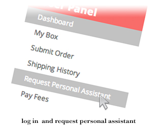 request personal assistant